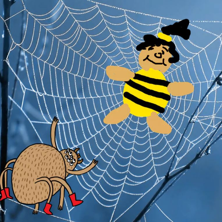Bea stuck in the spiders web
