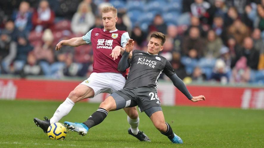Ben Mee in action for Burnley FC