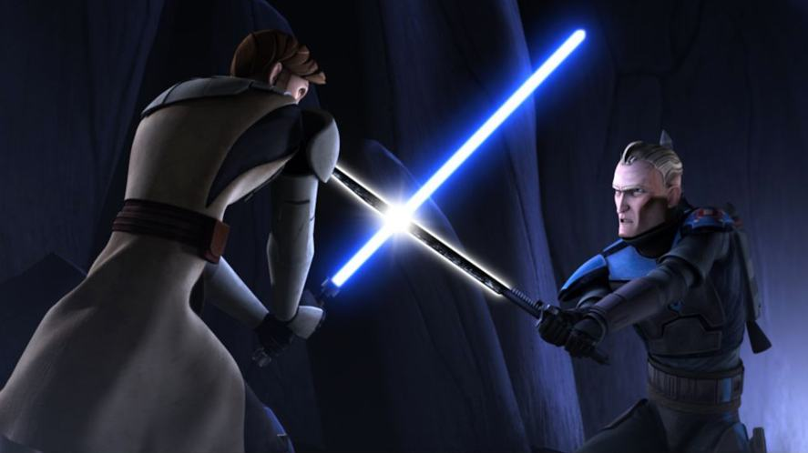 A scene from Star Wars: The Clone Wars