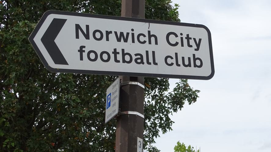 A sign to Norwich City's ground