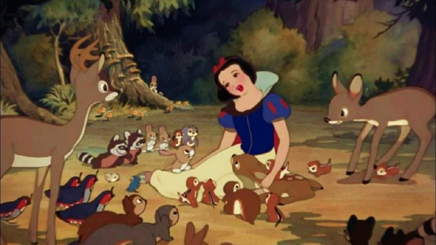 A scene from Snow White
