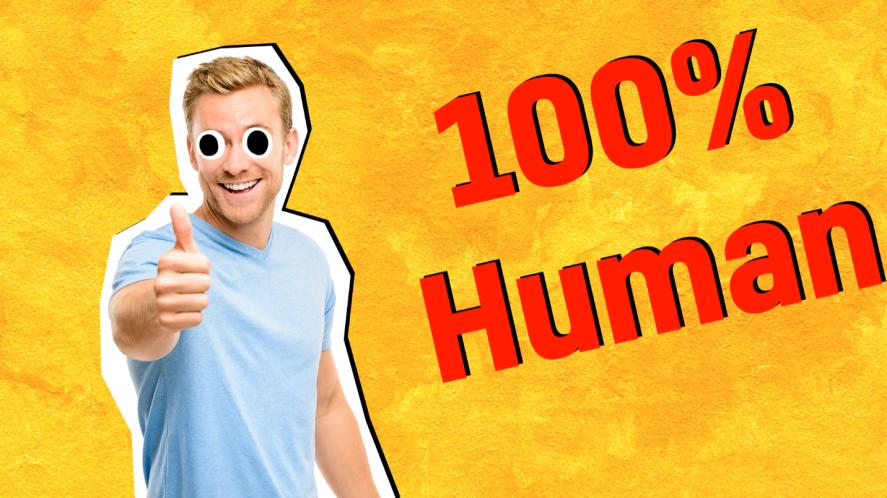 100% human result
