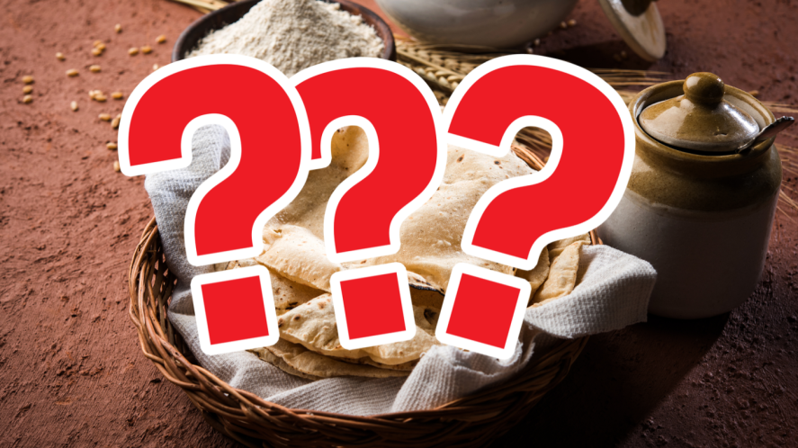 Chapati with question marks