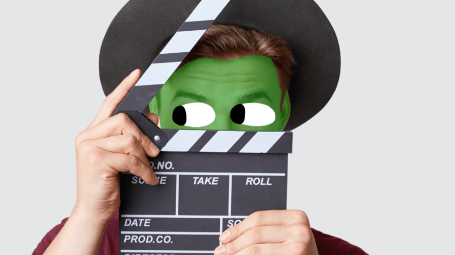 A actor with a green face
