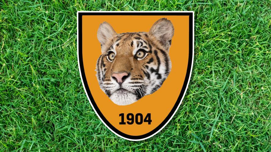 A tiger on an orange shield
