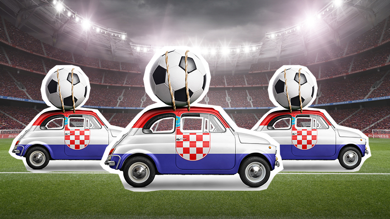 Funny sports jokes: Cars with footballs on their roofs