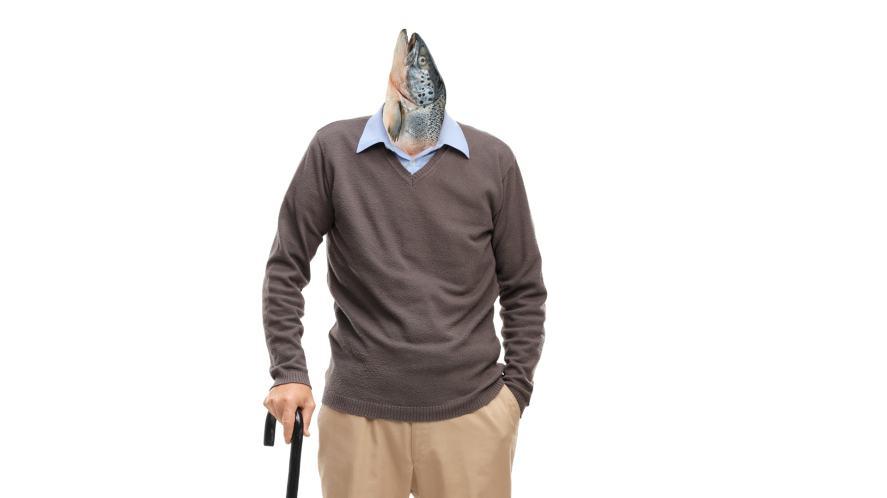 An elderly fish