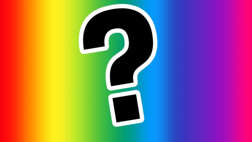 Rainbow with question mark