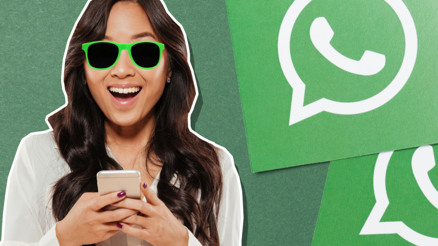 A WhatsApp user looking very happy with themselves