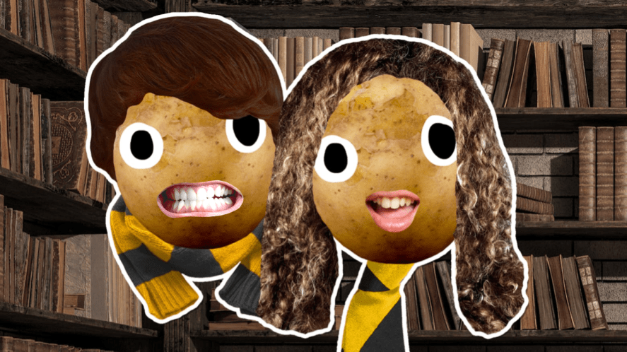 Two Hufflepuff students