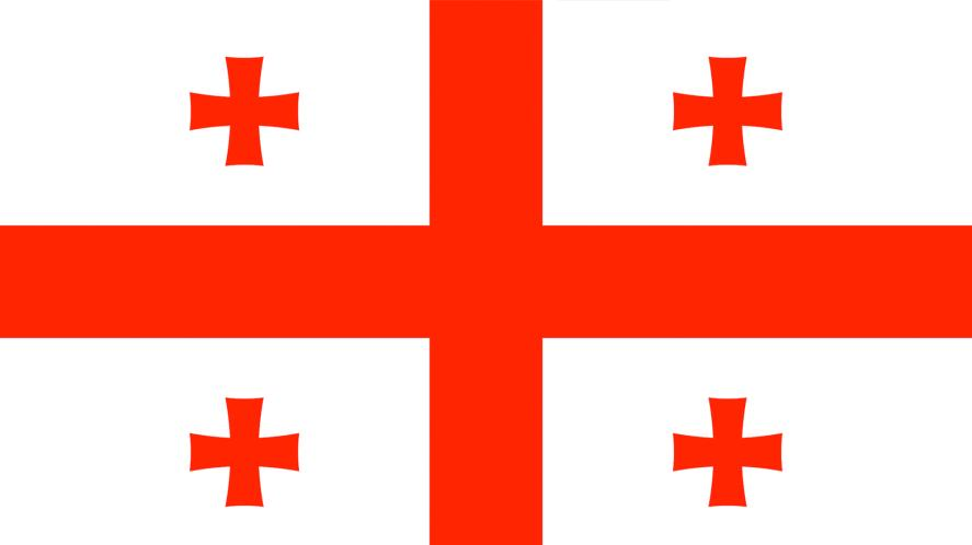 A flag bearing five red crosses
