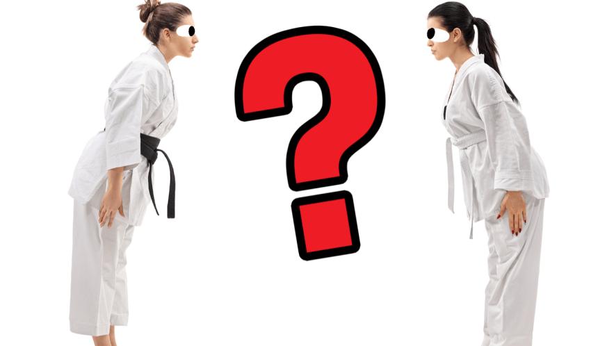 Two women practising judo
