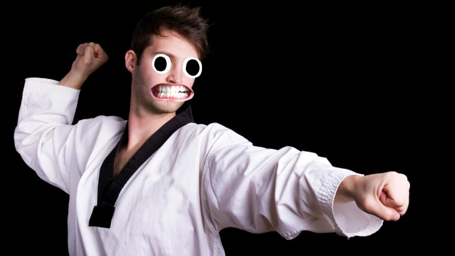 Man in judo uniform
