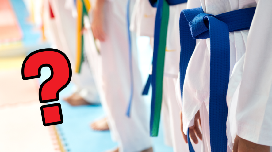 People in judo uniforms
