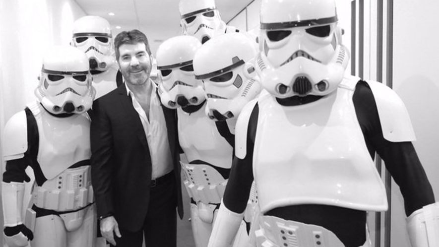 Simon Cowell and stormtroopers