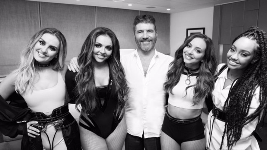 Simon Cowell and Little Mix