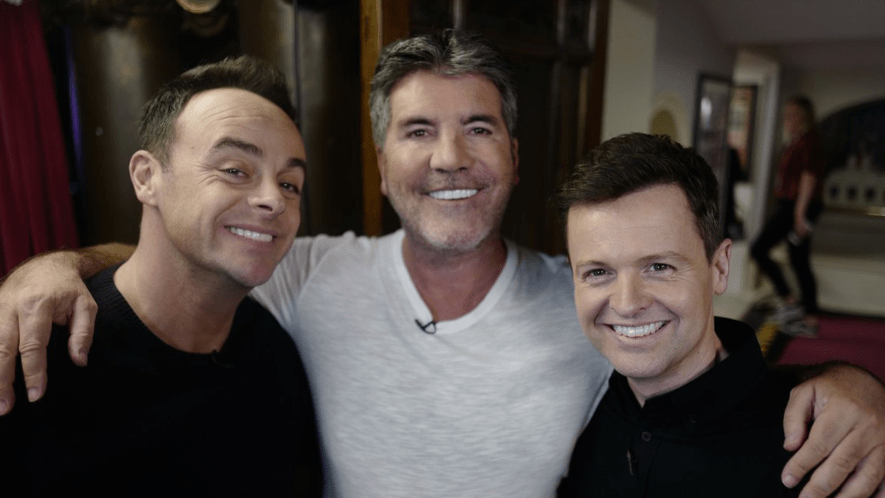 Simon Cowell with Ant and Dec