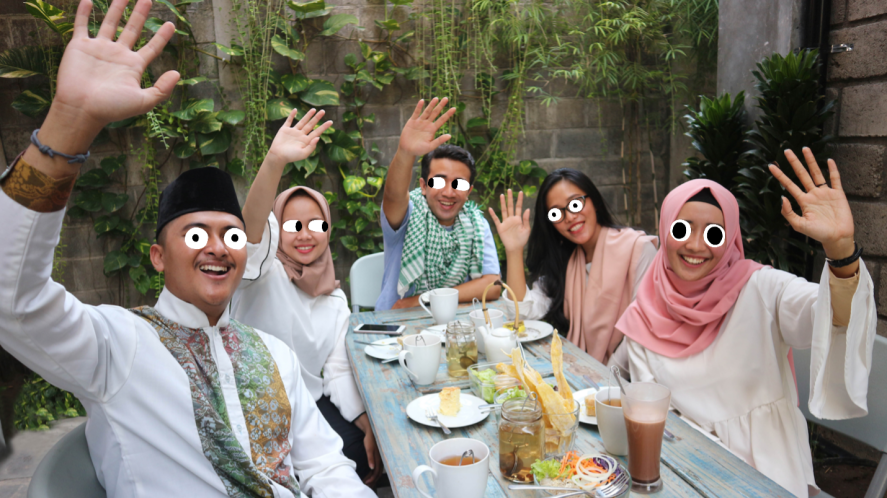 A group of people during a Ramadan celebration