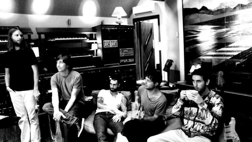 Maroon 5 in the studio