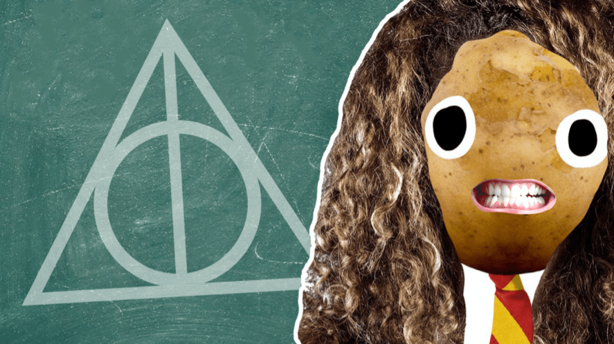 Hermione and a chalkboard