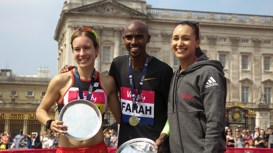 Jessica Ennis and Mo Farah with sports star