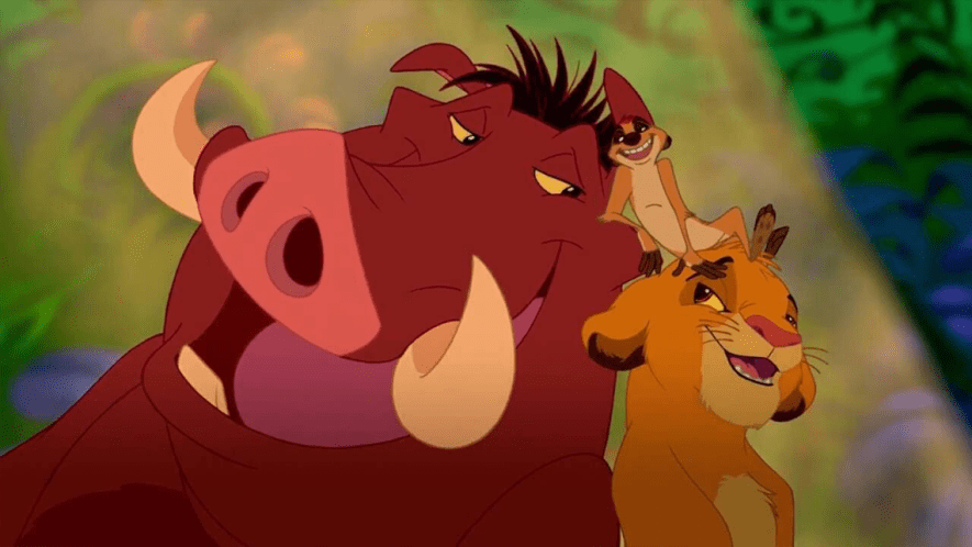 Simba and Pumba from The Lion King