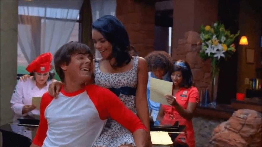 Troy and Gabriella in High School Musical 2