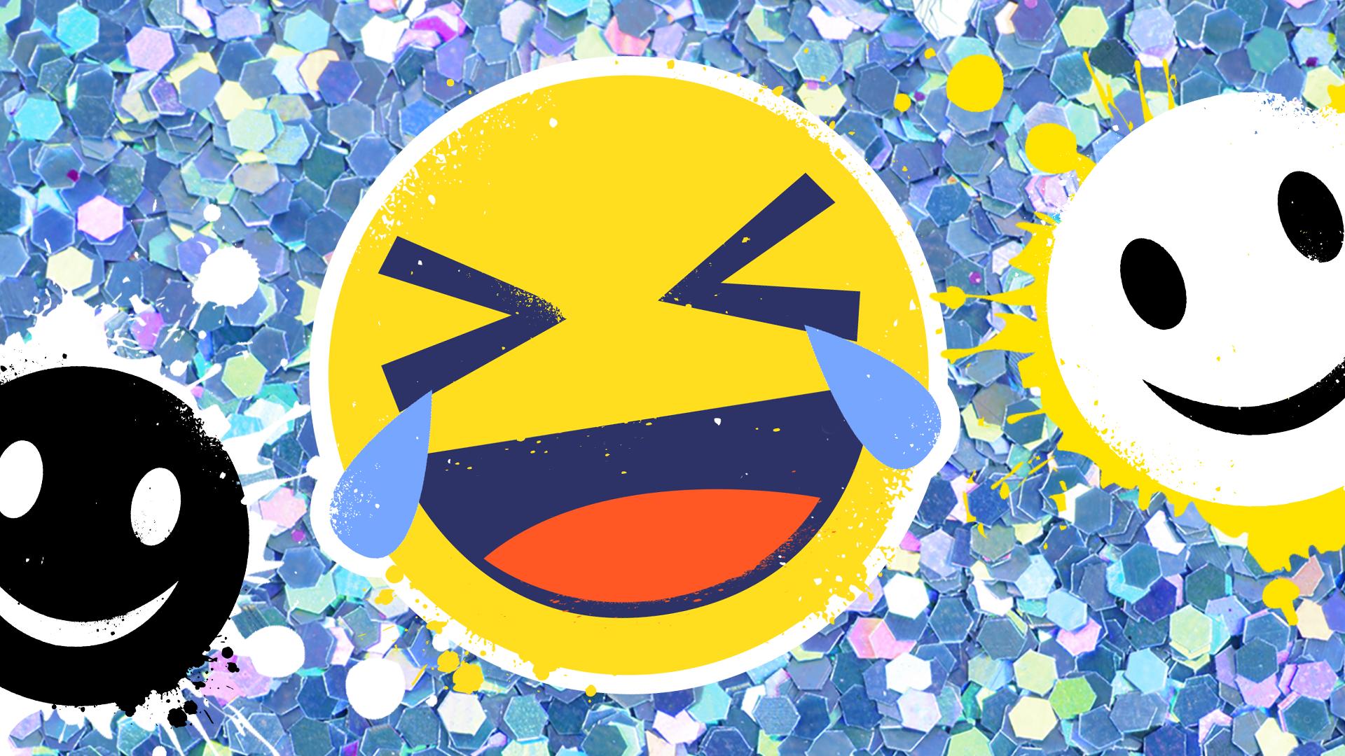 Laughing crying emoji face
