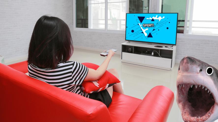 Watching sport on TV