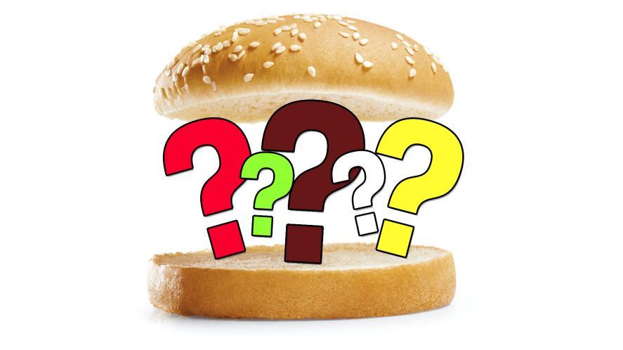 An empty burger bun