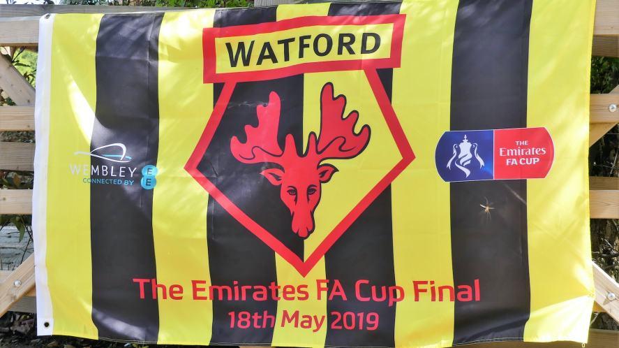 A Watford FA Cup flag