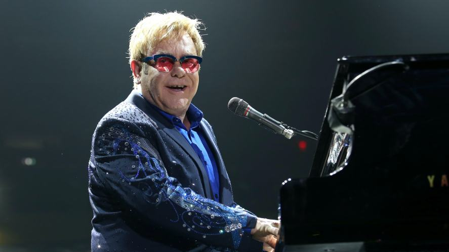 Sir Elton John performs in concert at Madison Square Garden