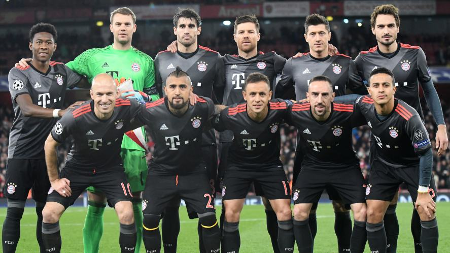 The Bayern Munich team in 2017