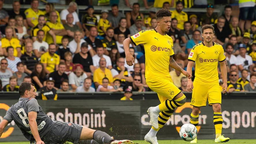 Jadon Sancho during his time playing for BVB