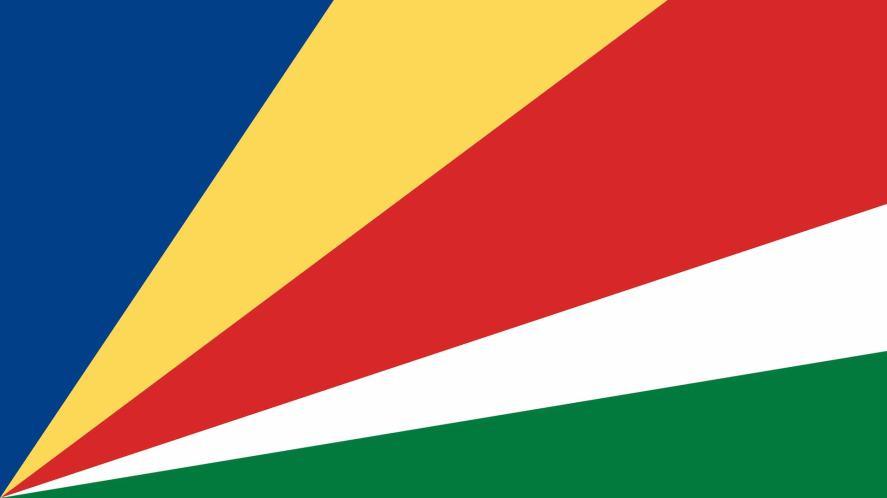 A five-colour flag
