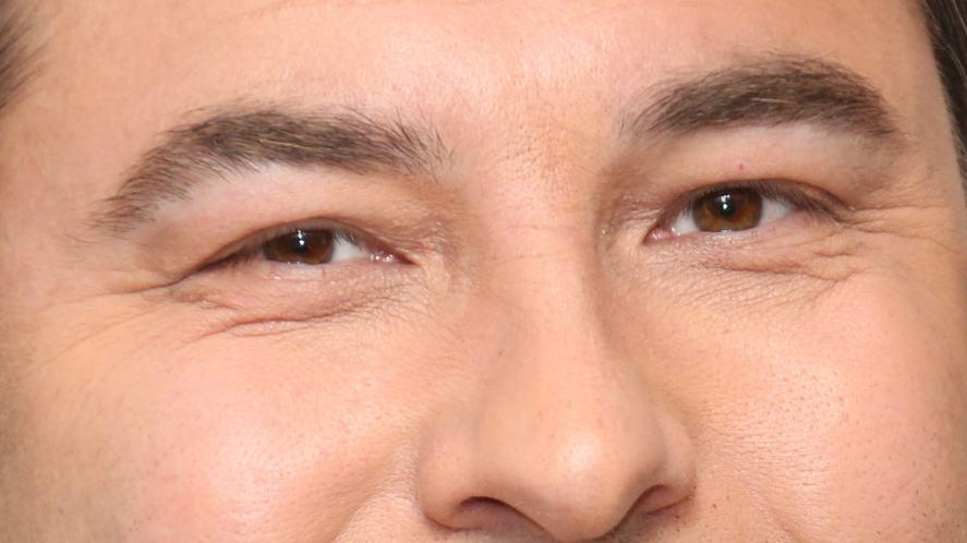 A TV celebrity's eyes