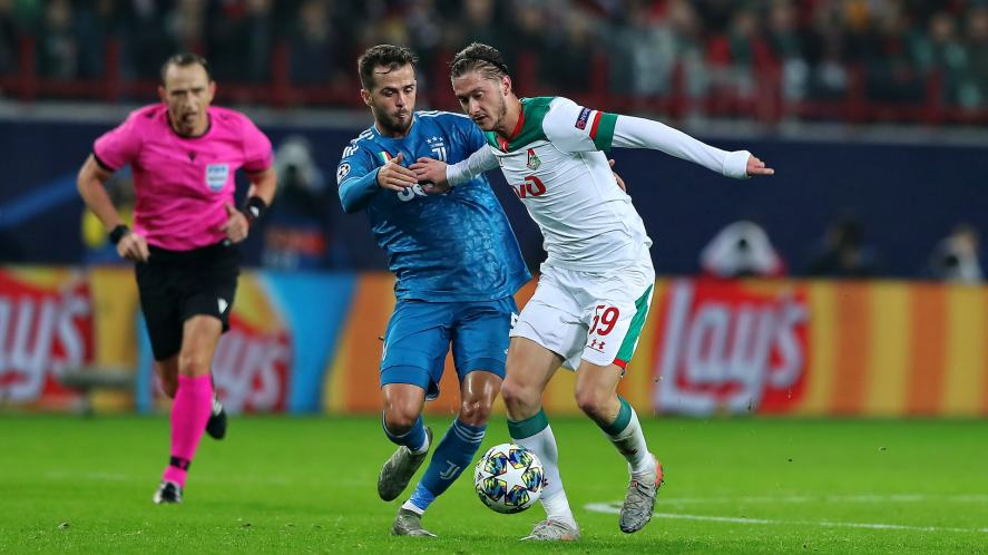 UEFA Champions League match between Lokomotiv and Juventus