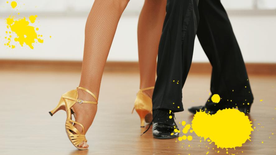 Couples feet dancing