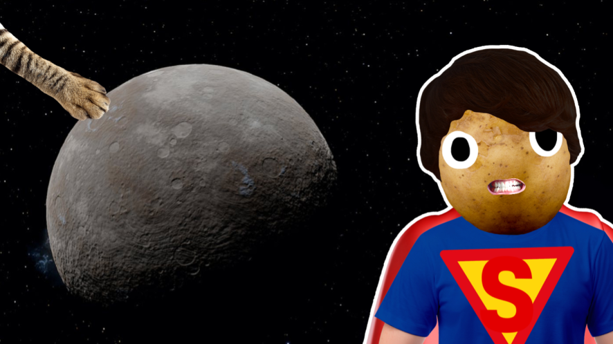 Superman and a planet