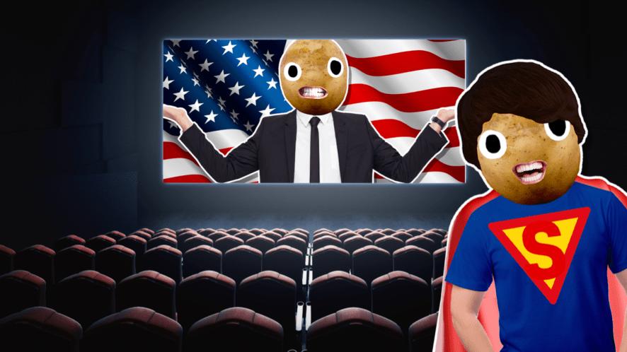 Superman at the cinema