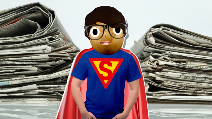 Superman and newspapers