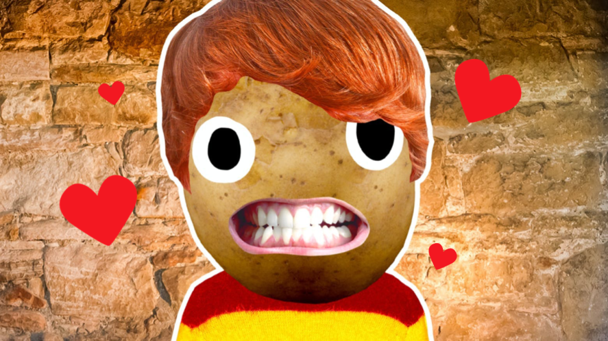 Ron Weasley surrounded by hearts