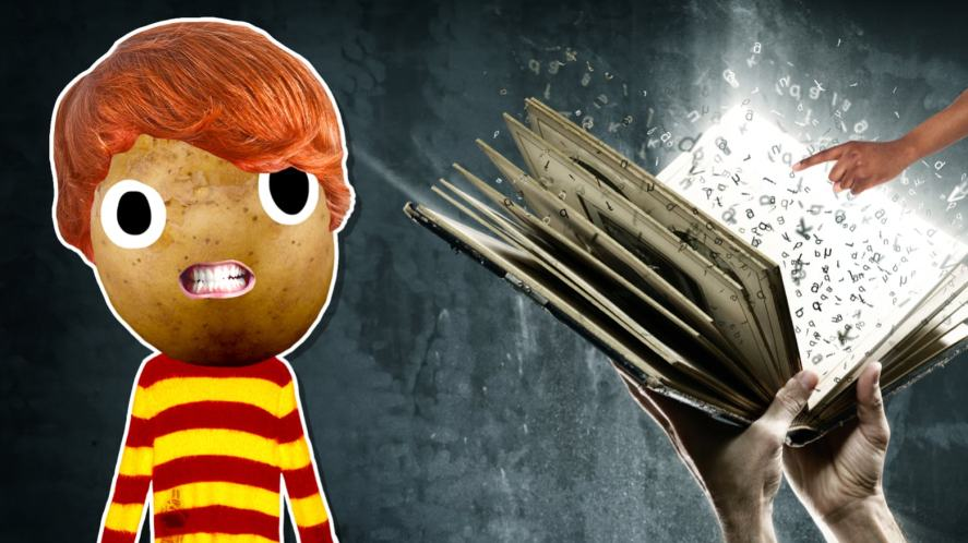 Ron Weasley and a magic book