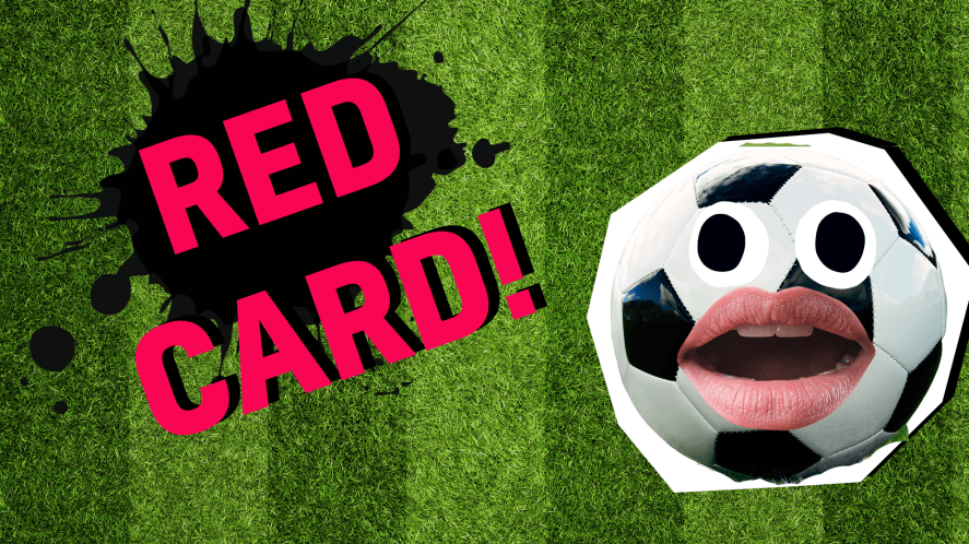 Red card result