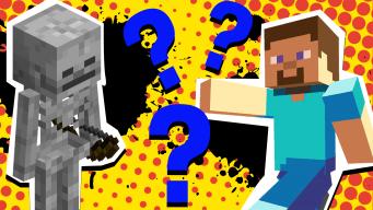 Minecraft character quiz thumbnail
