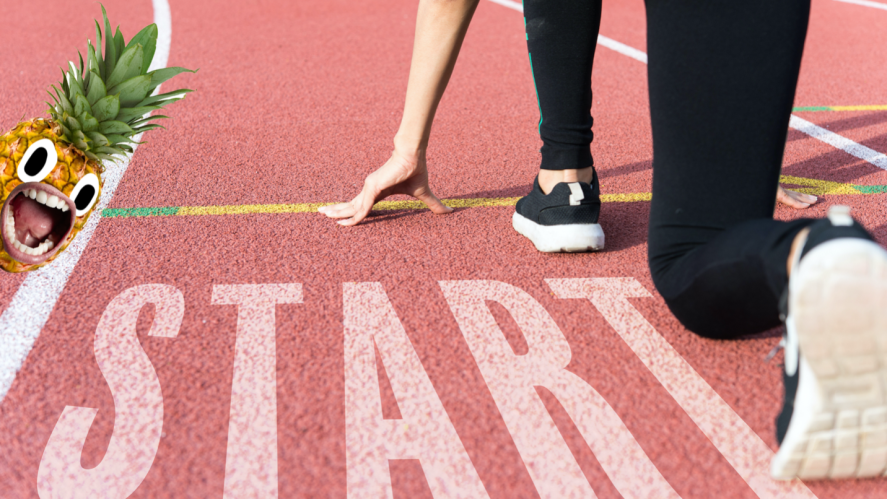 A person on the starting block