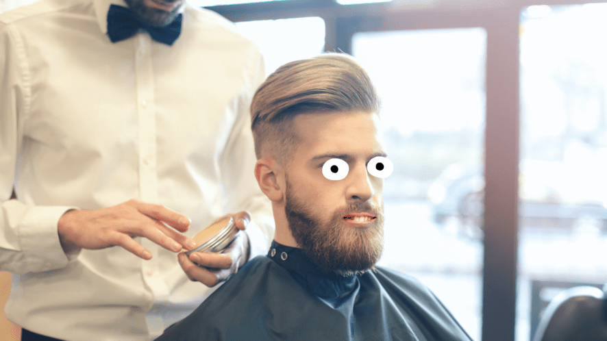 A man at a barber shop