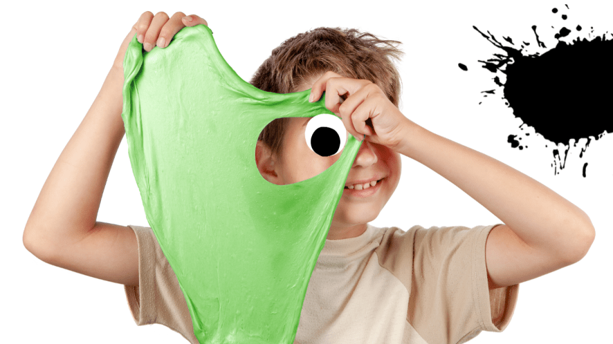 Boy with slime