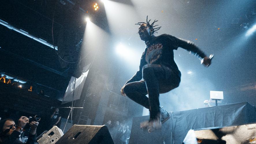 Travis Scott on stage
