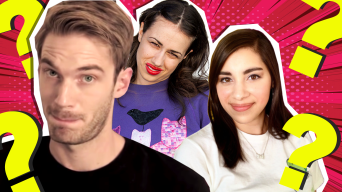 Youtubers Miranda Sings, Moriah Elizabeth and PewDiePie